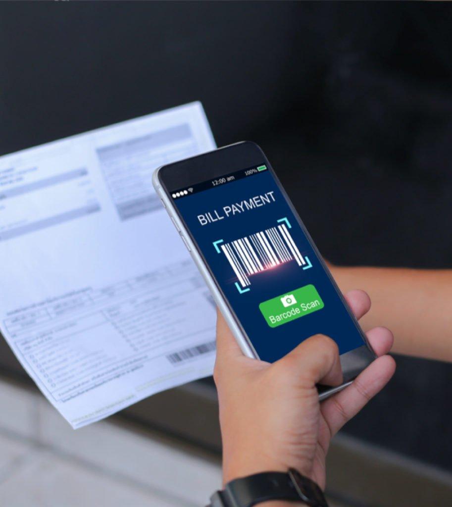 Bills payment using a barcode